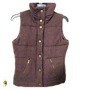 BB Dakota Brown Wool Vest